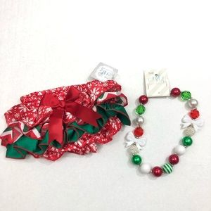 Other - Infant Baby Girl Christmas Diaper Cover Necklace